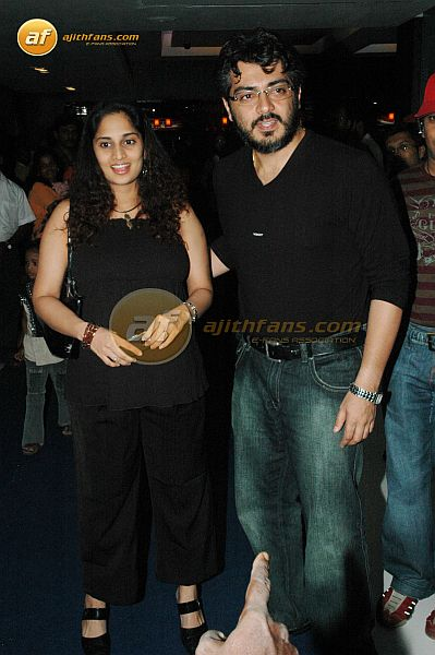 Ajith And Shalini For Evano Oruvan Premiere Ajithfans Actor Ajith