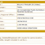 Billa 2 New Trailer - Censor Certificate - Exclusive