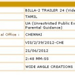 New Billa 2 Trailer Censored today - Run time of nearly 3mins