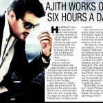 Ajith Works Out Six Hours a Day!