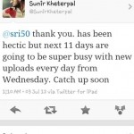 New Uploads Eveyday form Tomorrow - Sunir Kheterpal