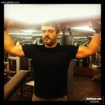Ajith Kumar muscle tight look