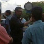 Arya with Ajith in the Shoot of Vishnuvardhan Movie at Mumbai.