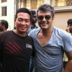Ajith with Stunt master Ketcha