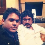 Director Vishnuvardhan with Music Director Yuvan Shankar Raja during Song Composing Session.