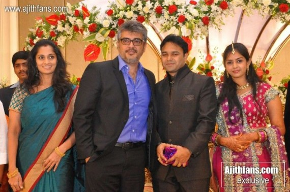 Exclusive Images Ajith Shalini At Director Jothikrishna Wedding Reception