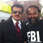 Ajith with Director Venkat Prabhu during Mankatha Shoot