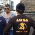 Unseen Image: Ajith & Rana Daggubati with Jaika Stunt Team