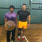 Ajith with his trainer Shiva