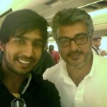 Actor Vishnu with Ajith Kumar