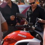 Ajith cruises on a 1200 cc Ducati bike
