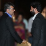 Actor Munish with Ajith Kumar