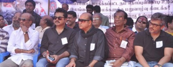 Exclusive Images: Ajith at Nadigar Sangam Hunger Strike