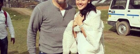 Actress Tapsee pannu with Ajith in Kulu Manali (Himachal Pradesh) for Ajith 53rd movie directed by Vishnuvardhan.
