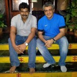 Pic Info: Ajith with his ophthalmologist friend Dr. Vijay Shankar.