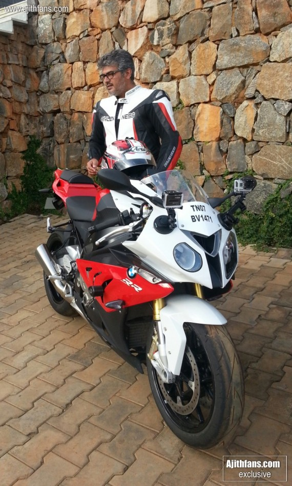 Ajith with his new BMW Bike