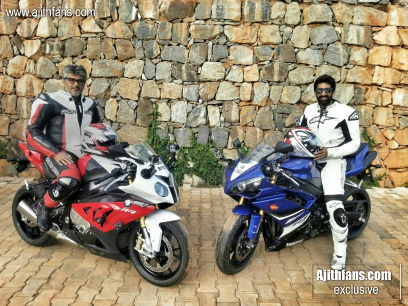 ajith on his new bmw bike - exclusive images - ajithfans - actor