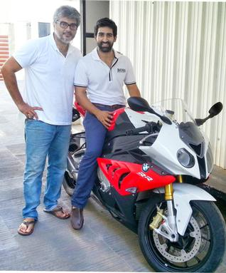 Pic Info:  Suhail Chandok with Ajith Kumar