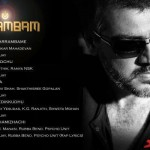 Official Track List of Ajith's Arrambam from Sony Music.