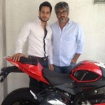 Actor Bharath with Ajith Kumar.