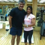 Ajith with Trainer Kiran