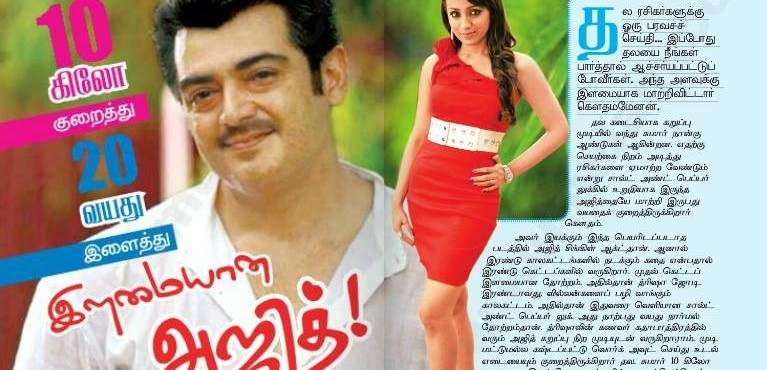 Ajith shed 20 Kgs for Gautham Menon Film