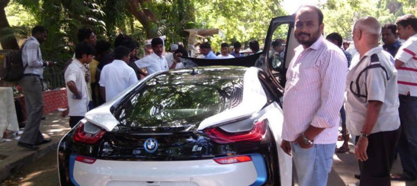 Ajithkumar gets New BMW I8 Hybrid Sports Car
