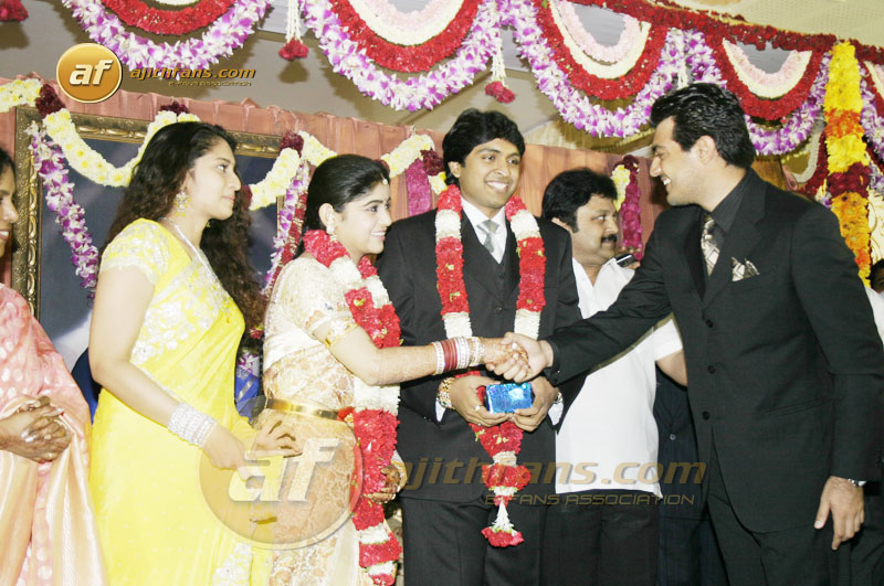 Ajith And Shalini At Actor Prabus Son Wedding